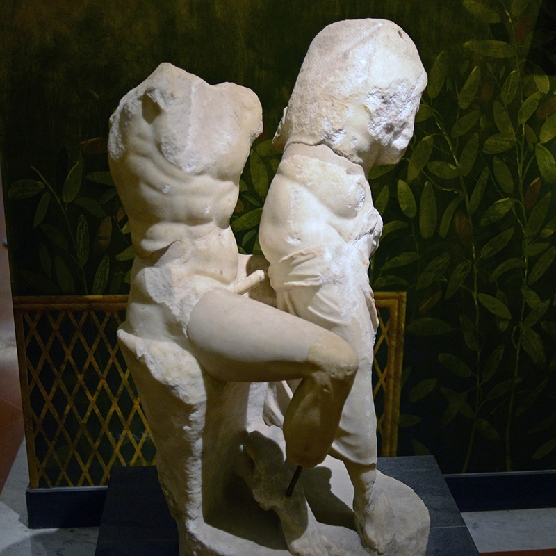 Pompeii erotic sculpture faun